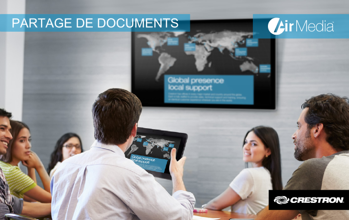 Crestron - Air Media - Partage de documents