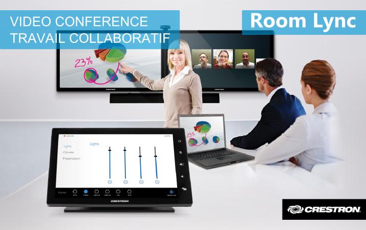 Crestron - RL - Vidéo conférence - Travail Collaboratif
